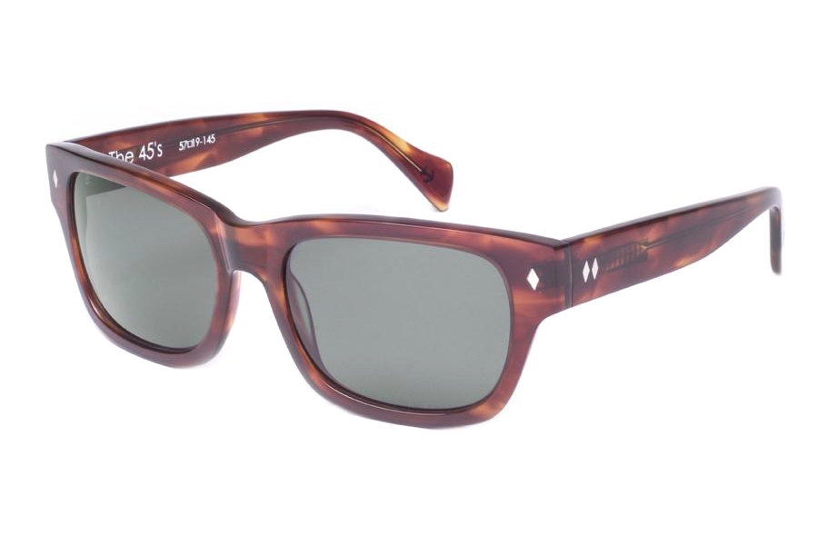 Tres Noir 45's Sunglasses in Classic Tortoise Polarized (Discontinued)