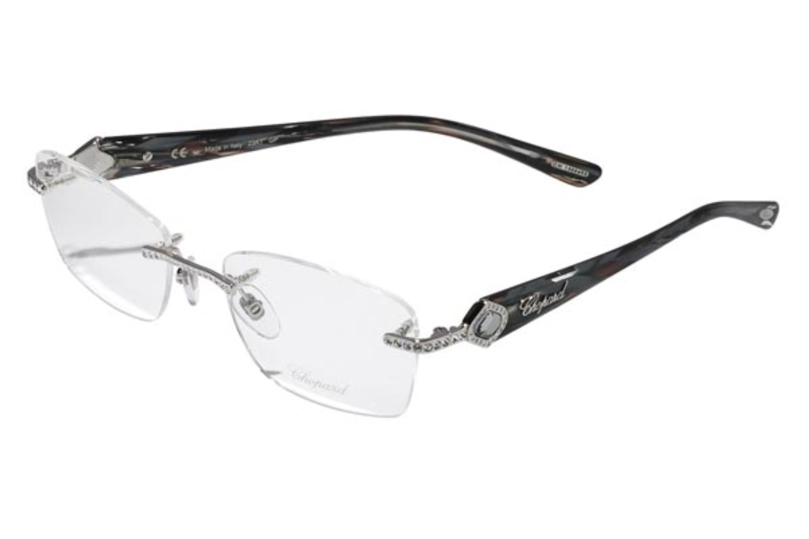 Chopard VCH A33 Eyeglasses in VCH A33-579 Grey-Palladium (GP 23Kt.)/Stones