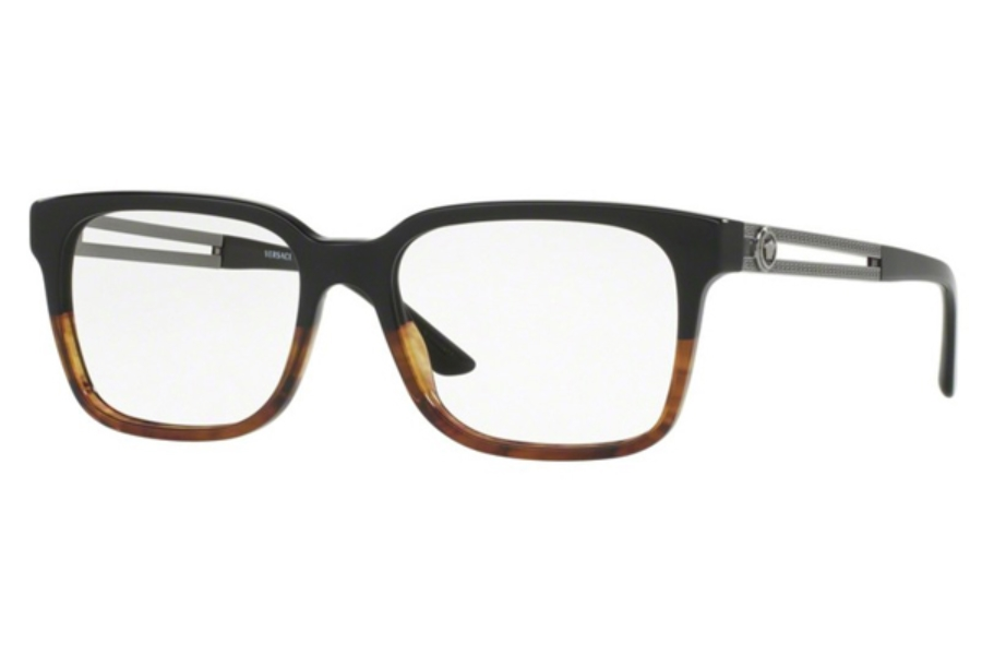 Versace VE 3218 Eyeglasses in 5177 Black/Havanam (Discontinued)