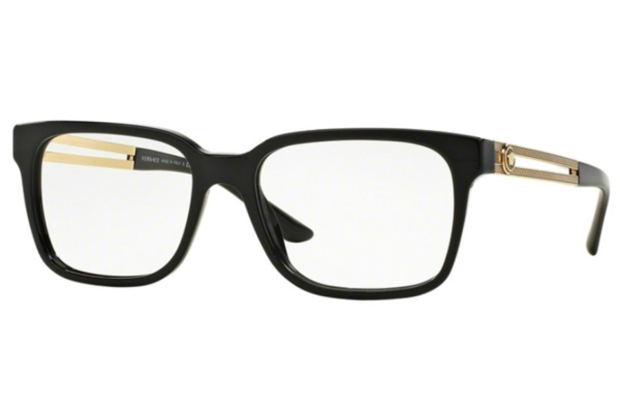 Versace VE 3218 Eyeglasses in GB1 Black (53 Eyesize Only)