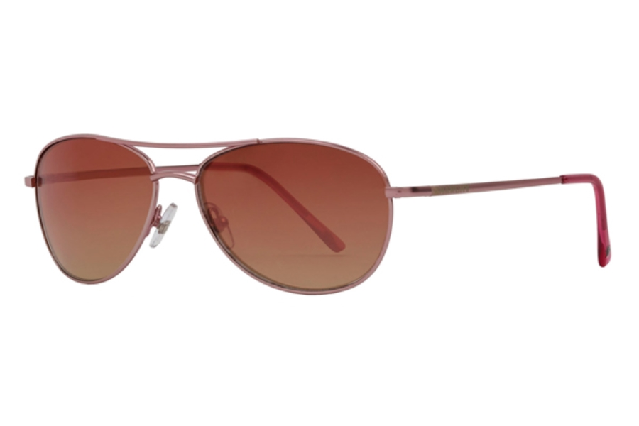Anarchy Fugitive Sunglasses in Satin Soft Pink w/ Pink Gradient Platinum Mirror Lenses
