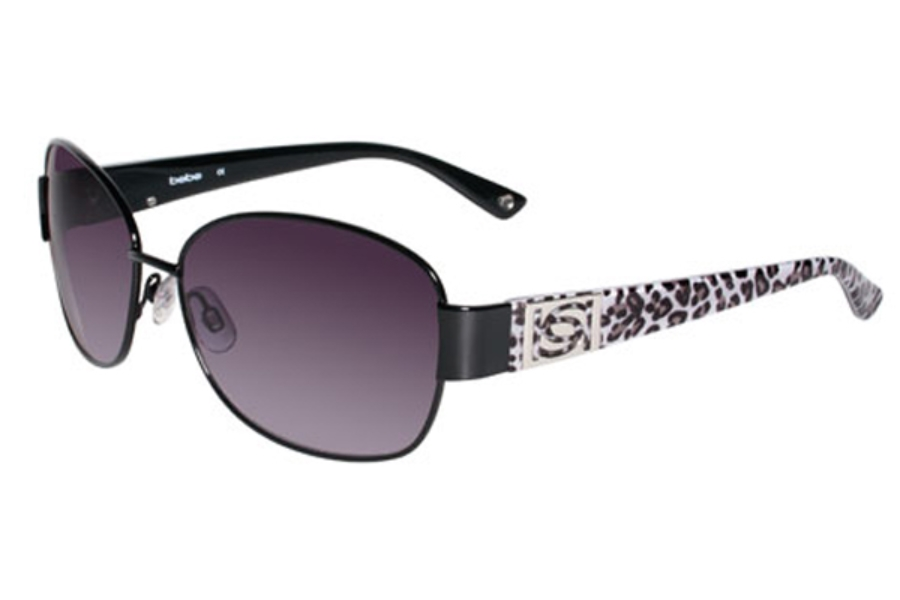 Bebe BB7054 Delicious Sunglasses in 001 Jet w/ Grey lenses