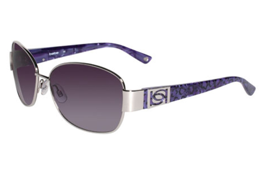 Bebe BB7054 Delicious Sunglasses in 045 Silver wGrey lenses