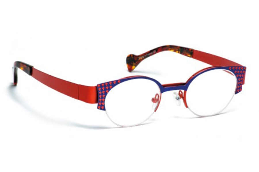 BOZ Willy Eyeglasses in 2064 Bleu/Corail