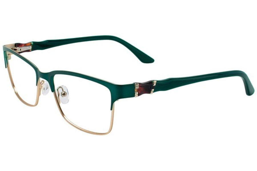 Cafe Boutique CB1016 Eyeglasses in C-2 Emerald/Gold