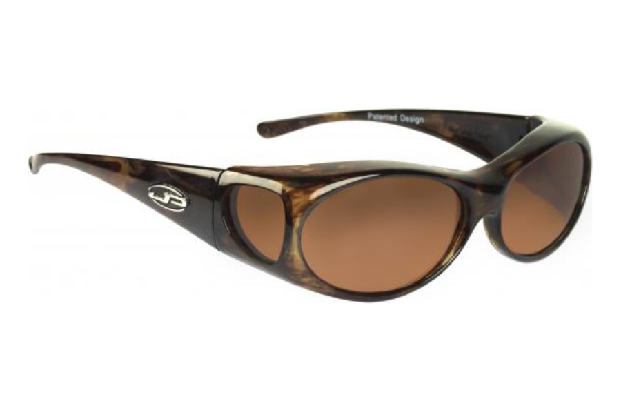 Fitovers Aurora Sunglasses in AR008A Brown Marble w/ Amber Lenses