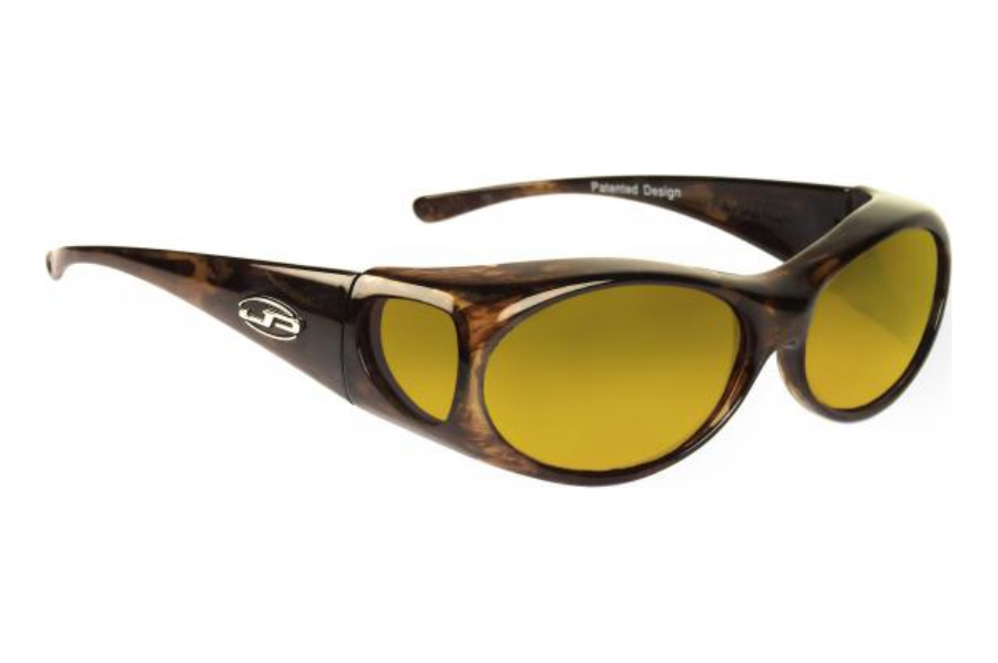 Fitovers Aurora Sunglasses in AR008Y Brown Marble w/ Yellow Lenses
