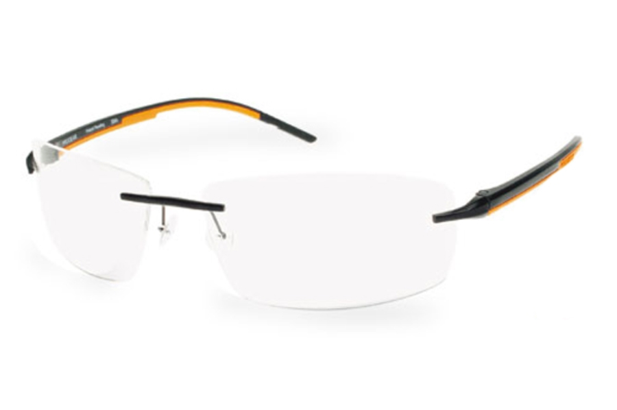 Progear Eyeguard OPT-1103 Eyeglasses in Black Matte/ Orange Rubber