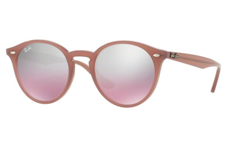 Ray-Ban RB 2180 Sunglasses in 62297E Opal Antique Pink / Pink Mirror Silver Grad