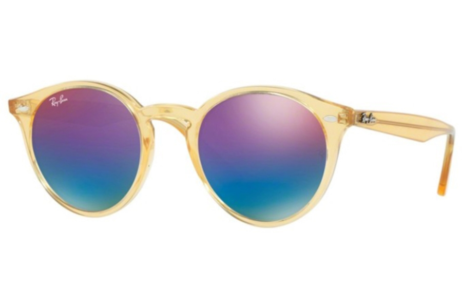 Ray-Ban RB 2180 Sunglasses in 6277B1 Shiny Yellow / Green Mirror Blue Gradient Vio (Discontinued)