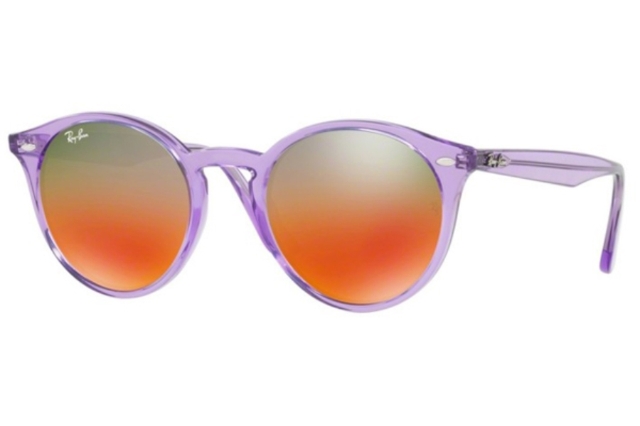 Ray-Ban RB 2180 Sunglasses in 6280A8 Shiny Violet / Brown Mirror Red Gradien Silve