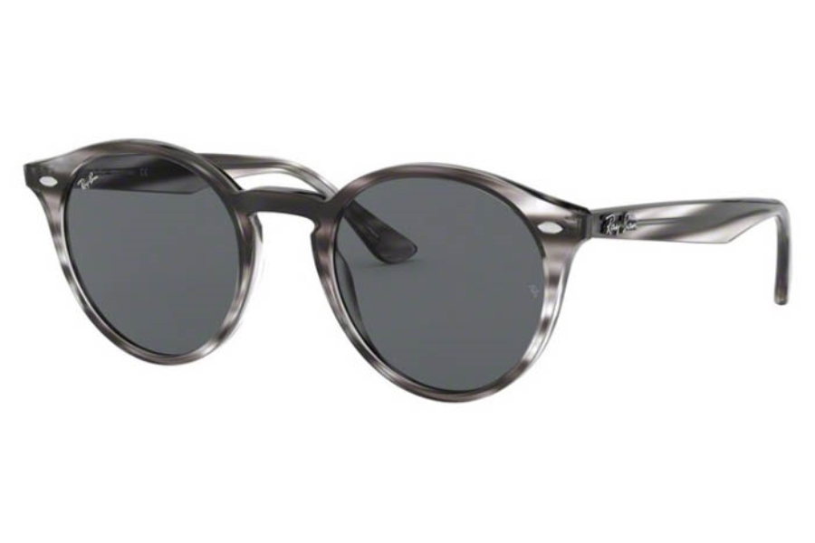Ray-Ban RB 2180 Sunglasses in 643087 Stripped Grey Havana/Dark Grey