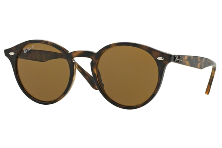 Ray-Ban RB 2180 Sunglasses in 710/83 Shiny Dark Havana / Polar Brown (49 Eyesize Only)