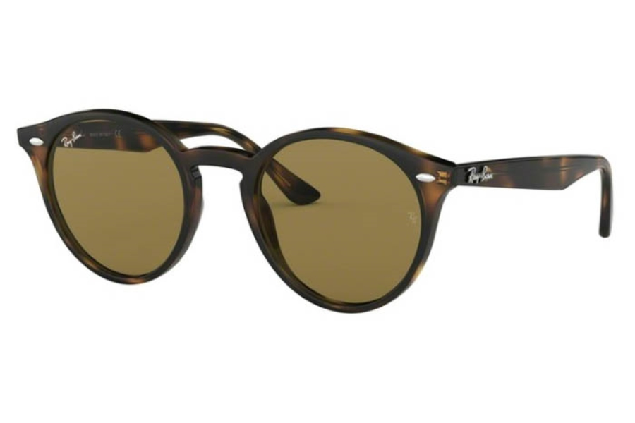 Ray-Ban RB 2180 Sunglasses in 820/73 Stripped Red Havana/Dark Brown