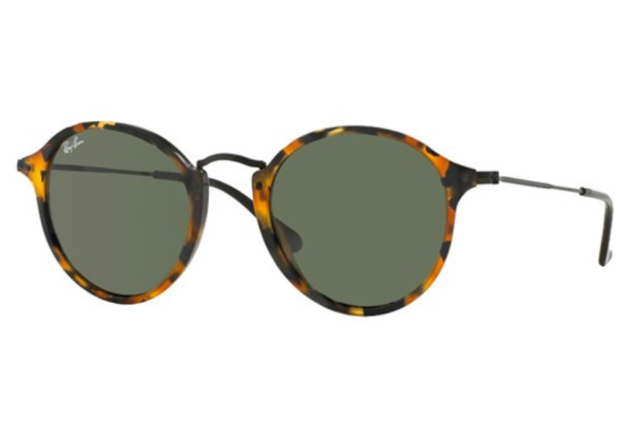 Ray-Ban RB 2447 Sunglasses in 1157 Spotted Black Havana Green (49 eye size only)