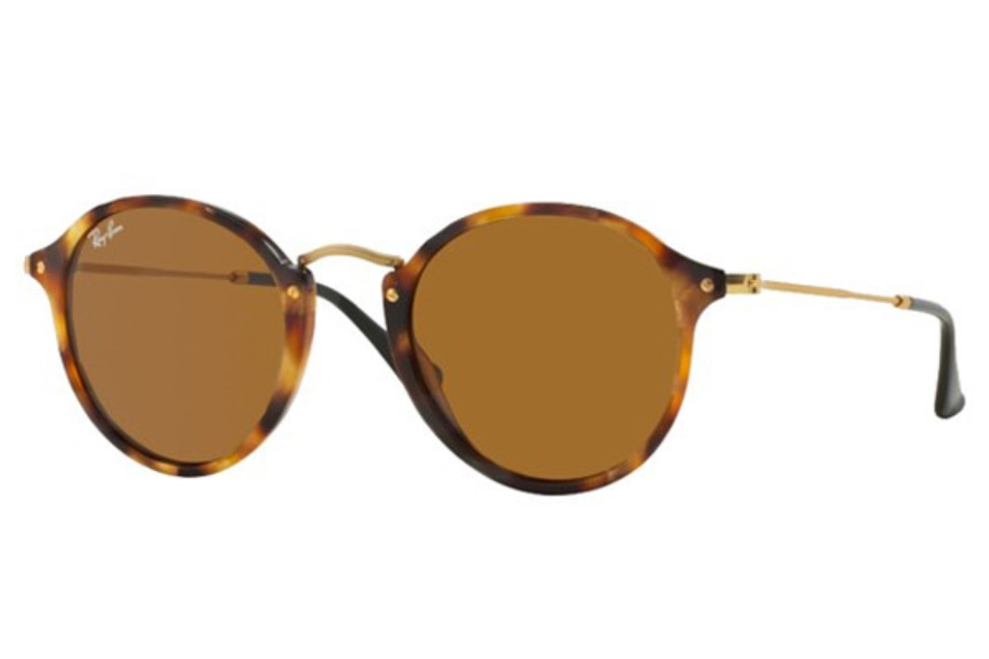 Ray-Ban RB 2447 Sunglasses in 1160 Spotted Brown Havana Brown