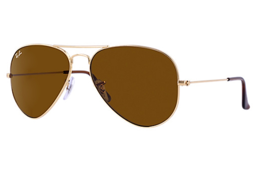 Ray-Ban RB 3025 (Aviator Large Metal) Sunglasses in 001/33 Gold Crystal Brown