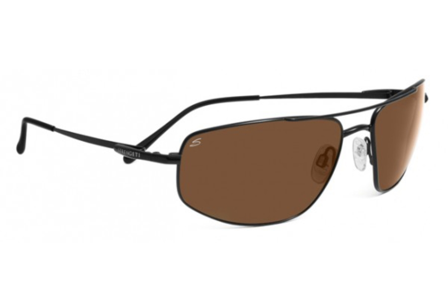Serengeti Levanto Sunglasses in 7585 Satin Black w/ Polarized Drivers Lenses