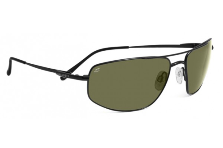 Serengeti Levanto Sunglasses in 7586 Satin Black w/ Polarized 555nm Lenses