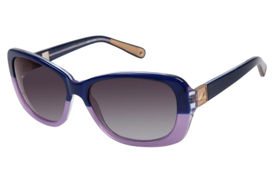 Sperry Top-Sider East Hampton Sunglasses in C04 Navy / Purple Fade