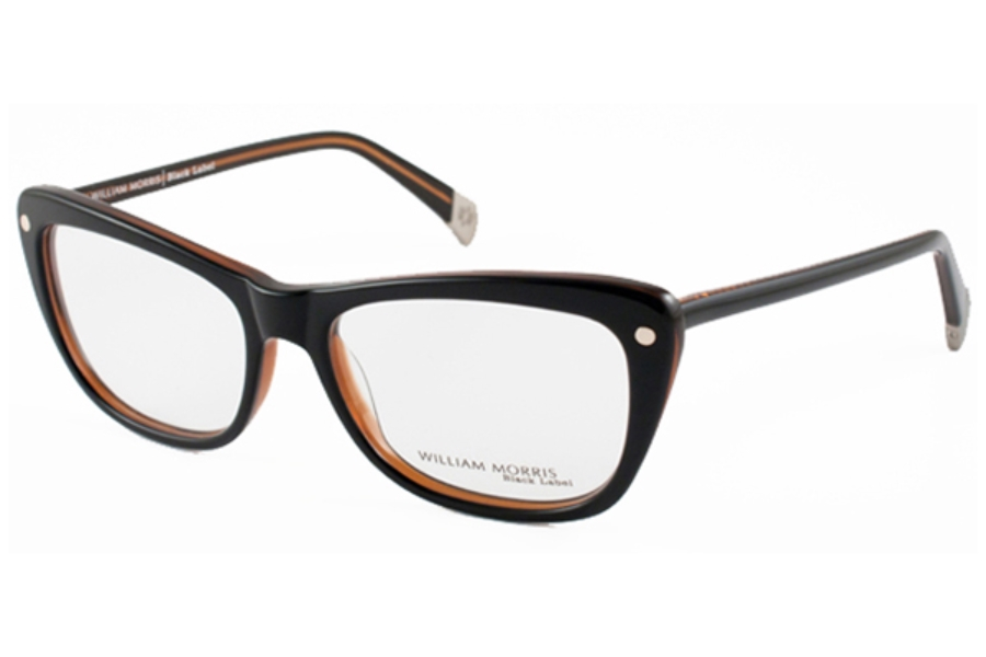 William Morris Black Label BL 100 Eyeglasses in C3 Black/Brown