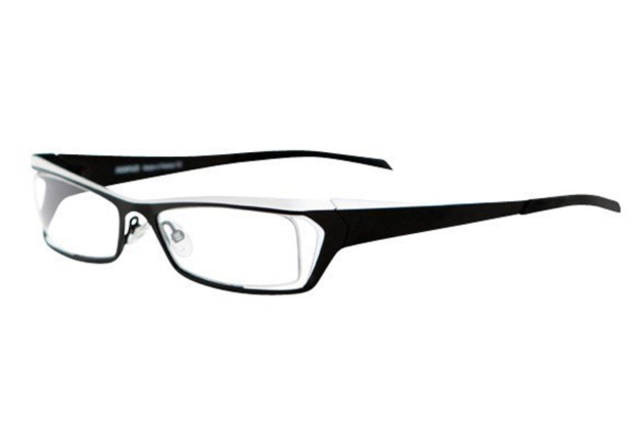 Noego Zhone 5 Eyeglasses in C59 Black + White