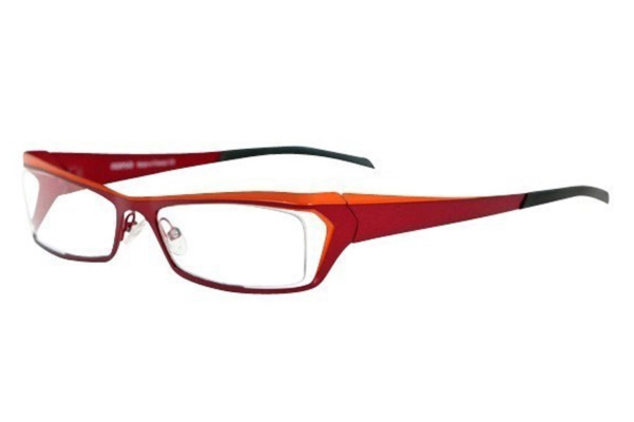 Noego Zhone 5 Eyeglasses in C69 Red + Orange