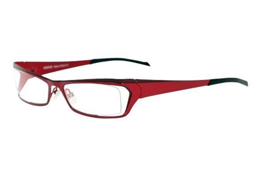 Noego Zhone 5 Eyeglasses in C87 Red + Burgundy